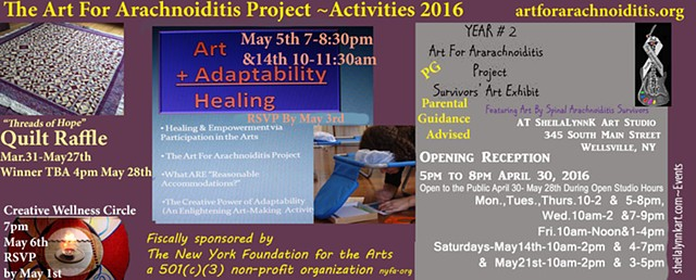The Art For Arachnoiditis Project YEAR 2 Survivors' Art Exhibit