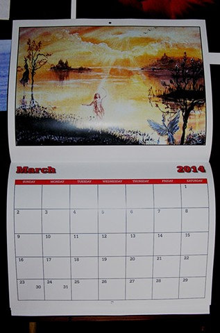 fine art calendars, sheilalynnk art studio calendars