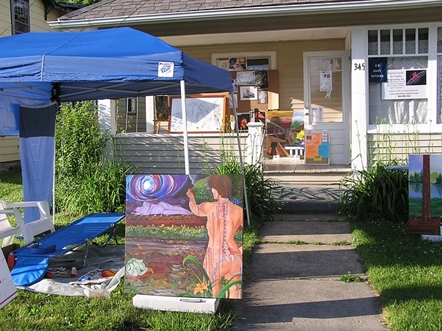REAL LIVE Art Sale Out Front VIDEO