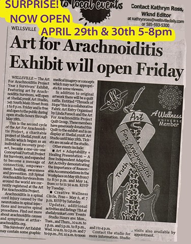 Wellsville Daily Reporter, Art For Arachnoiditis Project Survivors Art Exhibit, Pain Management