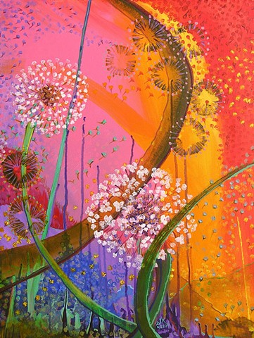 fine art abstract floral painting