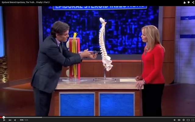 Dr. Oz exposes Risks of Spinal Injections part 2