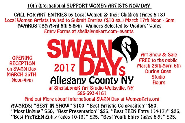 SWAN Day, Allegany County NY, Women Artists,