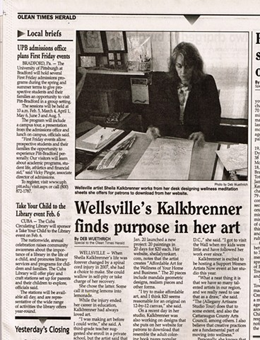 Olean Times Herald, Women Arts, Support Women Artists Now, SWAN Day, Allegany County NY