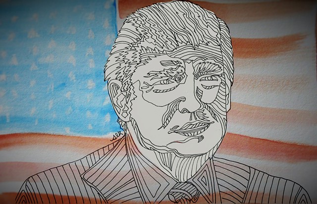 Trump, True Colors, Stand Up, Political Art,