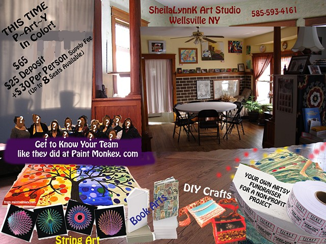 adult art party, painting party, affordable art, team building, Wellsville NY