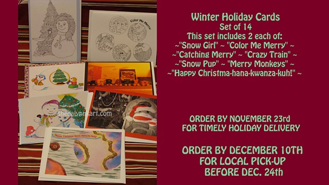 Winter Holiday Cards, Christmas Cards, Fine Art Cards