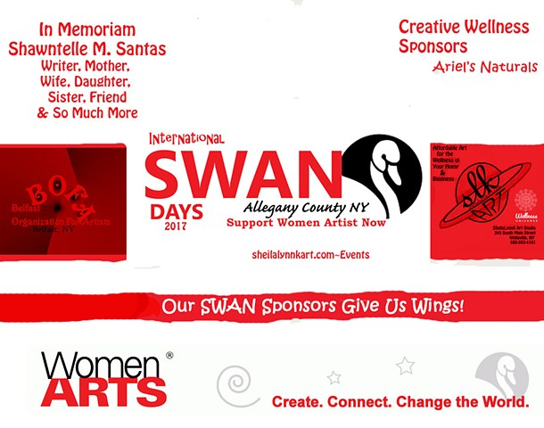 SWAN Day Sponsor, Allegany County NY, Wellsville NY, Women in the Arts