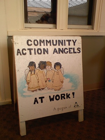Community Action Angels Sign