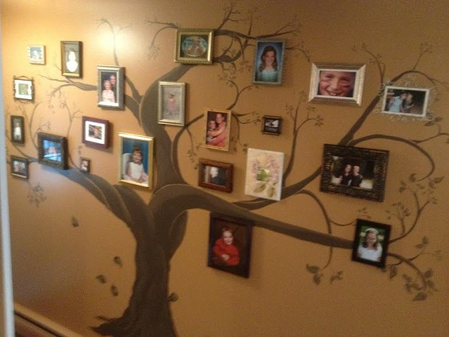 fine art murals, family tree painting