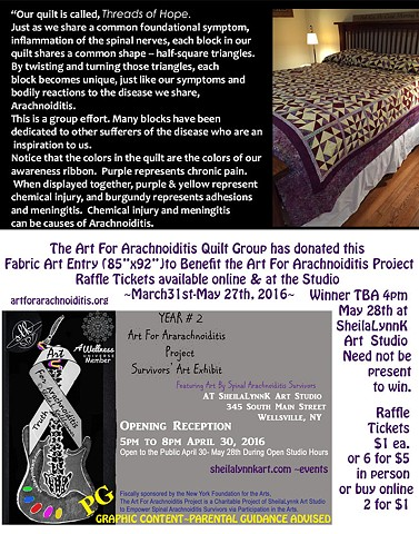 The YEAR 2 Survivors' Art Exhibit and Quilt Raffle