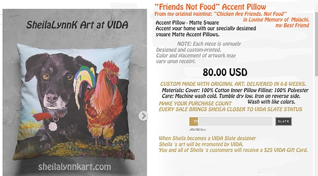 art pillows, art WellsvilleNY, Black Lab Art, Chicken Art, Rooster Art, Rooster Pillow