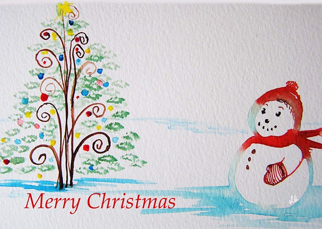 Winter Cards, Holiday Cards, Fine Art cards