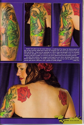 Featured work in Tattoo Magazine January 2009.