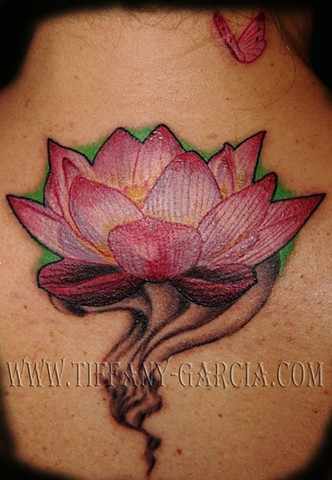 Lotus  by Tiffany Garcia #1 Female Tattoo Artist located in Long Beach, Orange County, LA, Huntington Beach, Carson, Palos Verdes, Los Angeles, West Hollywood, Pacific Coast Highway and surrounding areas in Southern California.