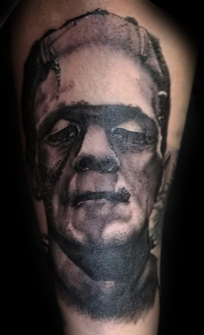 Frankenstein's Monster by Tiffany Garcia Torrance Tattoo Artist