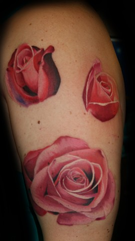 Roses by Tiffany Garcia #1 Female Tattoo Artist located in Long Beach, Orange County, LA, Huntington Beach, Carson, Palos Verdes, Los Angeles, West Hollywood, Pacific Coast Highway and surrounding areas in Southern California.