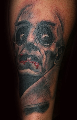 NosferatuHorror by Tiffany Garcia Tattoo Artist Original Custom Tattoos located in Long Beach, Huntington Beach, Carson, Palos Verdes, Los Angeles, West Hollywood, Pacific Coast Highway and surrounding areas in Southern California.
