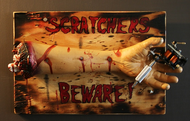 Scratchers Beware by Tiffany Garcia Tattoo Artist located in Long Beach, Huntington Beach, Carson, Palos Verdes, Los Angeles, West Hollywood, Pacific Coast Highway and surrounding areas in Southern California.