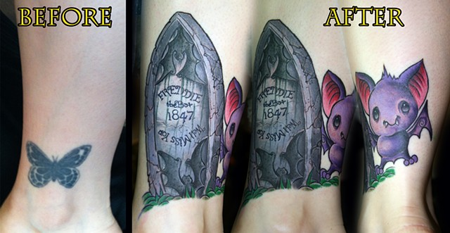 Coverup Piece  by Tiffany Garcia Female Tattoo Artist located in Long Beach, Orange County, LA, Huntington Beach, Carson, Palos Verdes, Los Angeles, West Hollywood, Pacific Coast Highway and surrounding areas in Southern California.