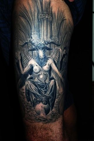 Dimmu Borg Baphomet with background HEALED!! by Tiffany Garcia