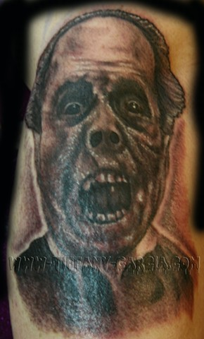 Classic Horror Lon Chaney by Tiffany Garcia Female Tattoo Artist located in Long Beach, Orange County, LA, Huntington Beach, Carson, Palos Verdes, Los Angeles, West Hollywood, Pacific Coast Highway and surrounding areas in Southern California.