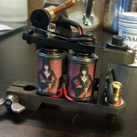 Custom Tattoo Machine by Tiffany Garcia Tattoo Artist Custom Tattoos in Long Beach, Huntington Beach, Carson, Palos Verdes, Los Angeles, West Hollywood, Pacific Coast Highway and surrounding areas in Southern California.