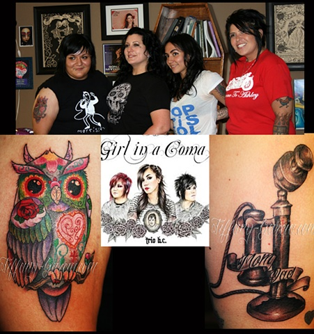 Girl in a Coma with Tiffany Garcia Female Tattoo Artist located in Long Beach, Orange County, LA, Huntington Beach, Carson, Palos Verdes, Los Angeles, West Hollywood, Pacific Coast Highway and surrounding areas in Southern California.