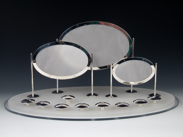 Anika Smulovitz, Cloud UFO Hanukah Menorah judaica silversmithing metalsmithing