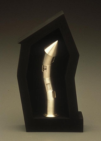 Anika Smulovitz Judaica sterling silver mezuzah tower