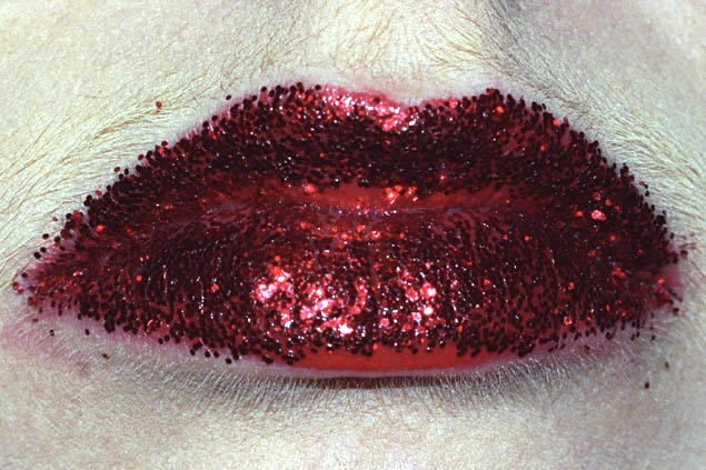 Anika Smulovitz Lips Untitled glitter