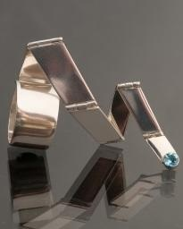 Anika Smulovitz, body in motion, jewelry hinged ring silver