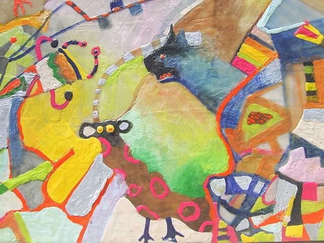luminous wax colour encaustic animal symbolism landscape