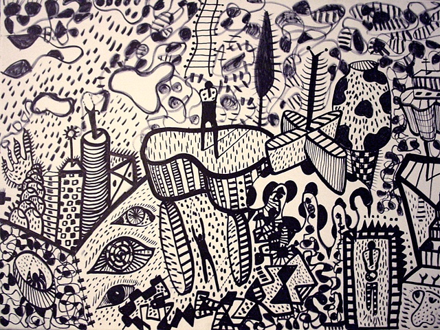 Drawing canvas dense surreal