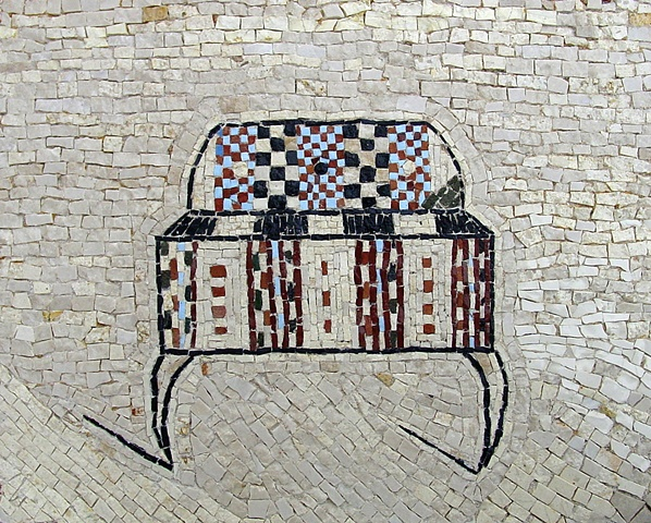 mosaic chest trunk coffer