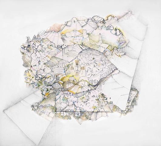 intricate drawings map aerial views
