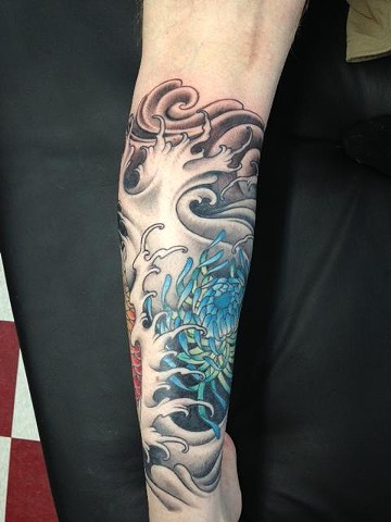 Water, Flower 1/2 sleeve