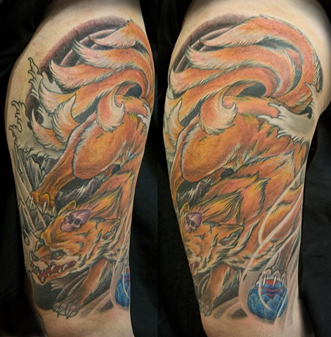 Japanese Kitsune Tattoo