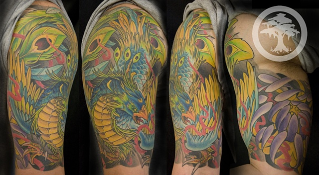 Japanese Phoenix Tattoo (half sleeve)