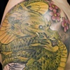 Dragon and Tiger coverup  in progress