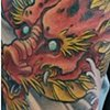 Japanese Dragon Coverup Tattoo