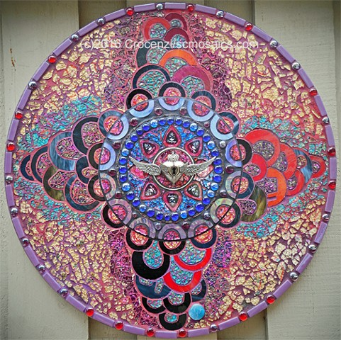 tempered glass mosaic, mixed-media mosaic, stained glass,