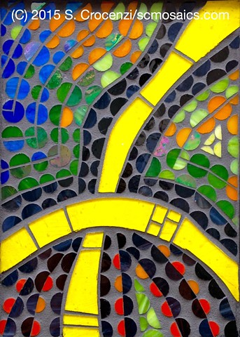 wall-hanging- stained glass mosaic