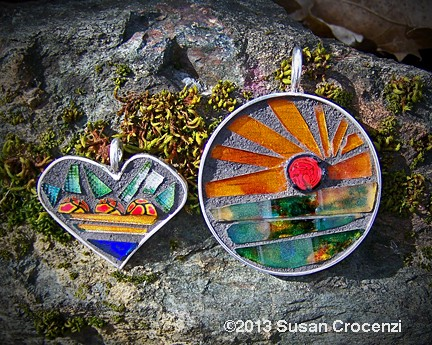 glass mosaic jewelry