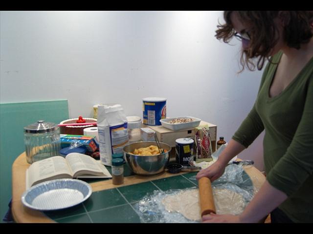 Preparing pies for Historic Yellow Springs