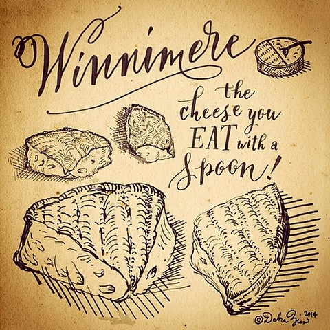 cheese illustration saxelby winnimere jasper hill farm cellars