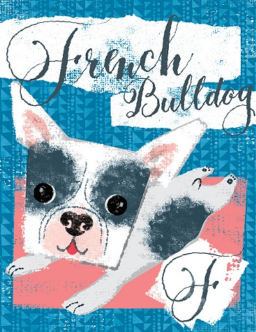 F is for French Bulldog