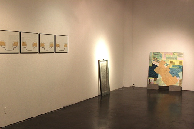 Installation with work by Matthew Bollinger