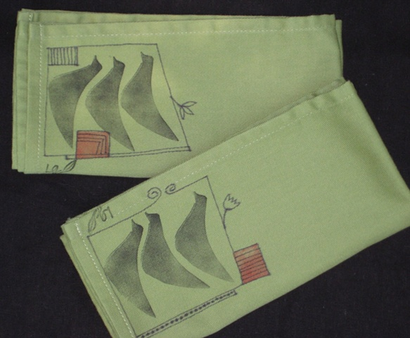 Napkins with Fabric Ink