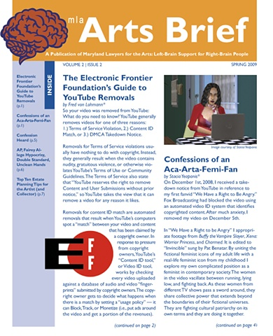 MLA Arts Brief